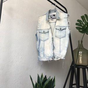 Other - Distressed denim vest